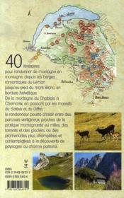 Entre léman et mont blanc ; randonnée - 4ème de couverture - Format classique