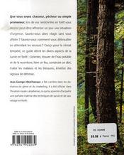 Guide pratique de survie en forêt - 4ème de couverture - Format classique