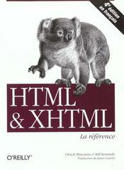 Html Et Xhtml La Reference ; 4e Edition - Intérieur - Format classique