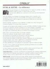 Html Et Xhtml La Reference ; 4e Edition - 4ème de couverture - Format classique