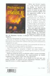 Presences Du Diable - 4ème de couverture - Format classique