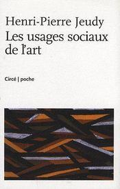 Les usages sociaux de l'art - Intérieur - Format classique