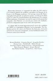 Les monarchies francaises et espagnoles xvi 1714 - 4ème de couverture - Format classique