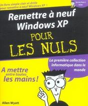 Remettre A Neuf Windows Xp - Intérieur - Format classique