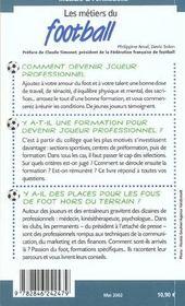Metiers Et Formation Du Football - 4ème de couverture - Format classique