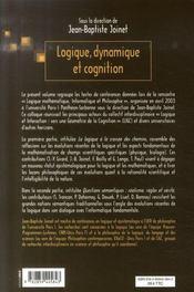 Logique, dynamique et cognition - 4ème de couverture - Format classique