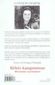 Bebes Kangourous - 4ème de couverture - Format classique