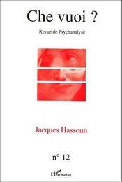 Jacques Hassoun - Couverture - Format classique