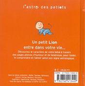 Lion - 4ème de couverture - Format classique