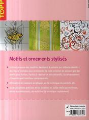 Motifs et ornements stylisés - 4ème de couverture - Format classique