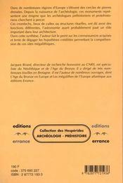 Les Cercles De Pierres Prehistoriques En Europe - 4ème de couverture - Format classique
