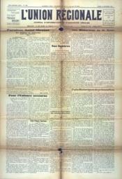 Union Regionale (L') N°1203 du 20/09/1941 - Couverture - Format classique