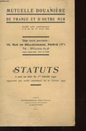 Statuts A Jour En Date Du 1er Janvier 1945 - Couverture - Format classique