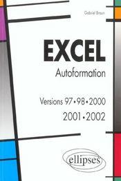 Excel Autoformation Versions 97.98.2000 2001.2002 - Intérieur - Format classique