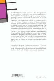 Excel Autoformation Versions 97.98.2000 2001.2002 - 4ème de couverture - Format classique