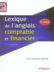 Lexique de l'anglais comptable et financier (2e édition) - Intérieur - Format classique