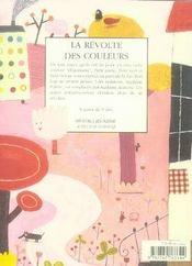 La révolte des couleurs - 4ème de couverture - Format classique