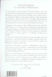 Le chevalier d'Harmental - 4ème de couverture - Format classique