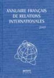 Annuaire Francais De Relations Internationales 2003 Vol 4 - Intérieur - Format classique