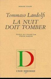 La Nuit Doit Tomber - Couverture - Format classique