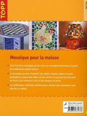 Mosaïque pour la maison - 4ème de couverture - Format classique