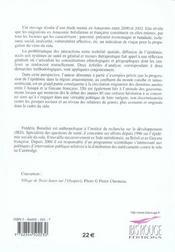 Migration Et Sida En Amazonie Francaise Et Bresilienne - 4ème de couverture - Format classique