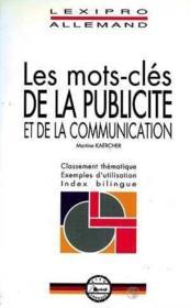 Les mots-cles de la publicite et de la communication - Couverture - Format classique