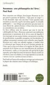 Rousseau, une philosophie de l'âme - 4ème de couverture - Format classique