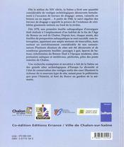 Archeologie De La Saone ; Le Fleuve Gardien De La Memoire - 4ème de couverture - Format classique