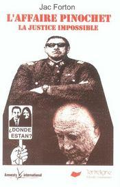 L'Affaire Pinochet ; La Justice Impossible - Intérieur - Format classique