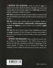 Between The Headlines Culture Et Jeux De Mots Dans Les Titres De Presse Anglais - 4ème de couverture - Format classique