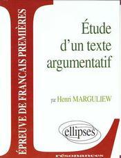 Etude sur le texte argumentatif - Intérieur - Format classique