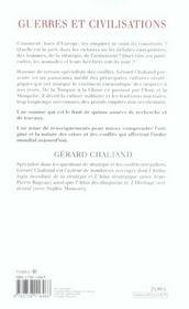 Guerres Et Civilisations - 4ème de couverture - Format classique