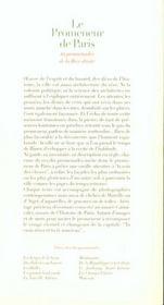 Promenades Parisiennes ; Dix Promenades De La Rive Droite - 4ème de couverture - Format classique