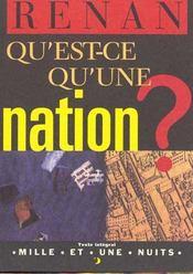 Qu'Est-Ce Qu'Une Nation ? - Intérieur - Format classique