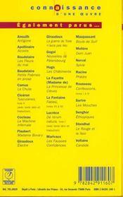 La machine infernale, de Jean Cocteau - 4ème de couverture - Format classique