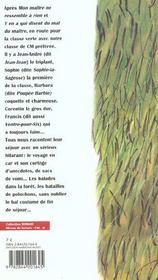 Le maitre se met au vert - 4ème de couverture - Format classique
