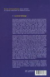 Guide philosophique pour penser le travail éducatif et médico-social t.1 ; la loi de l'échange - 4ème de couverture - Format classique