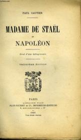 Madame De Stael Et Napoleon. Troisieme Edition - Couverture - Format classique