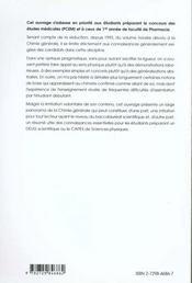 Cours De Chimie Generale - 4ème de couverture - Format classique