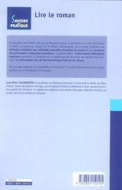 Lire Le Roman - 4ème de couverture - Format classique