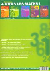 A Nous Les Maths ! ; Ce1 ; Livre De L'Elève - 4ème de couverture - Format classique