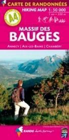 Massif des Bauges ; Annecy, Aix-les-Bains, Chambéry - Couverture - Format classique