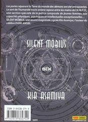 Silent Mobius T.6 - 4ème de couverture - Format classique