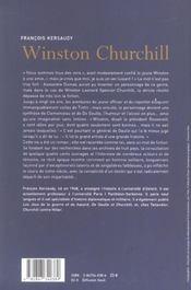 Winston Churchill Le Pouvoir De L Imagination - 4ème de couverture - Format classique