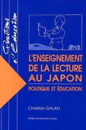L'enseignement de la lecture au Japon ; politique et éducation - Couverture - Format classique