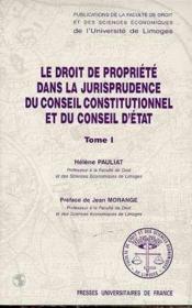 Droit de propriété dans la jurisprudence du conseil const & d'etat - Couverture - Format classique
