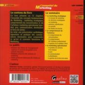 L'essentiel du marketing (3e édition) - 4ème de couverture - Format classique