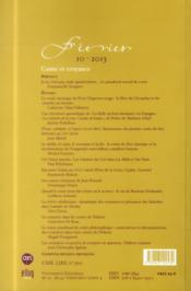 Feeries - Etudes Sur Le Conte Merveilleux (Xviie -Xixe Siecle) - N 10 / 2013. Conte Et Croyance - 4ème de couverture - Format classique
