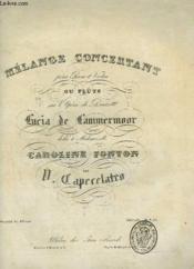 Melange Concertant Pour Piano - Sur L'Opera De Donizetti Lucia De Lammermoor. - Couverture - Format classique